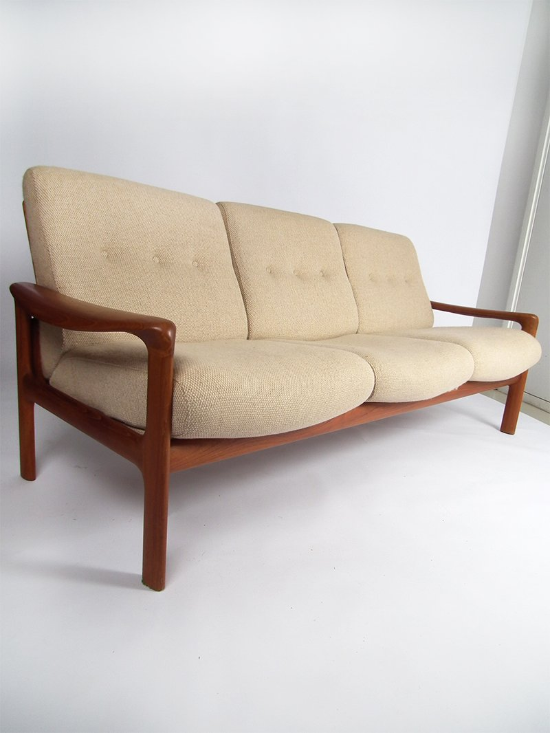 Vintage danish 3 seater sofa by komfort for sale at pamono Sofa bequem komfort