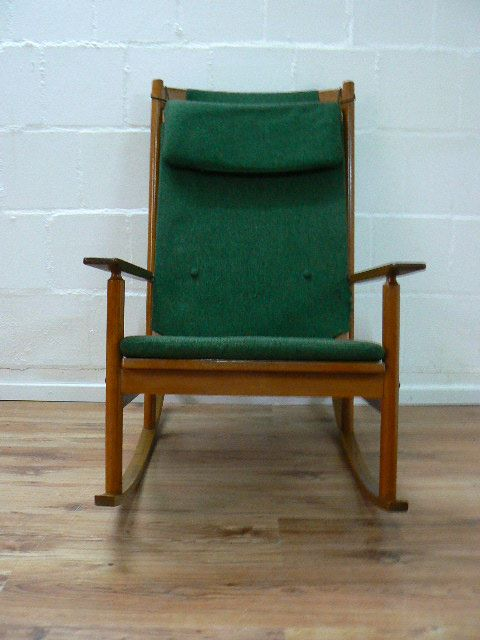 Mid Century Rocking Chair by Hans Olsen for Juul Kristensen, 1963 for ...
