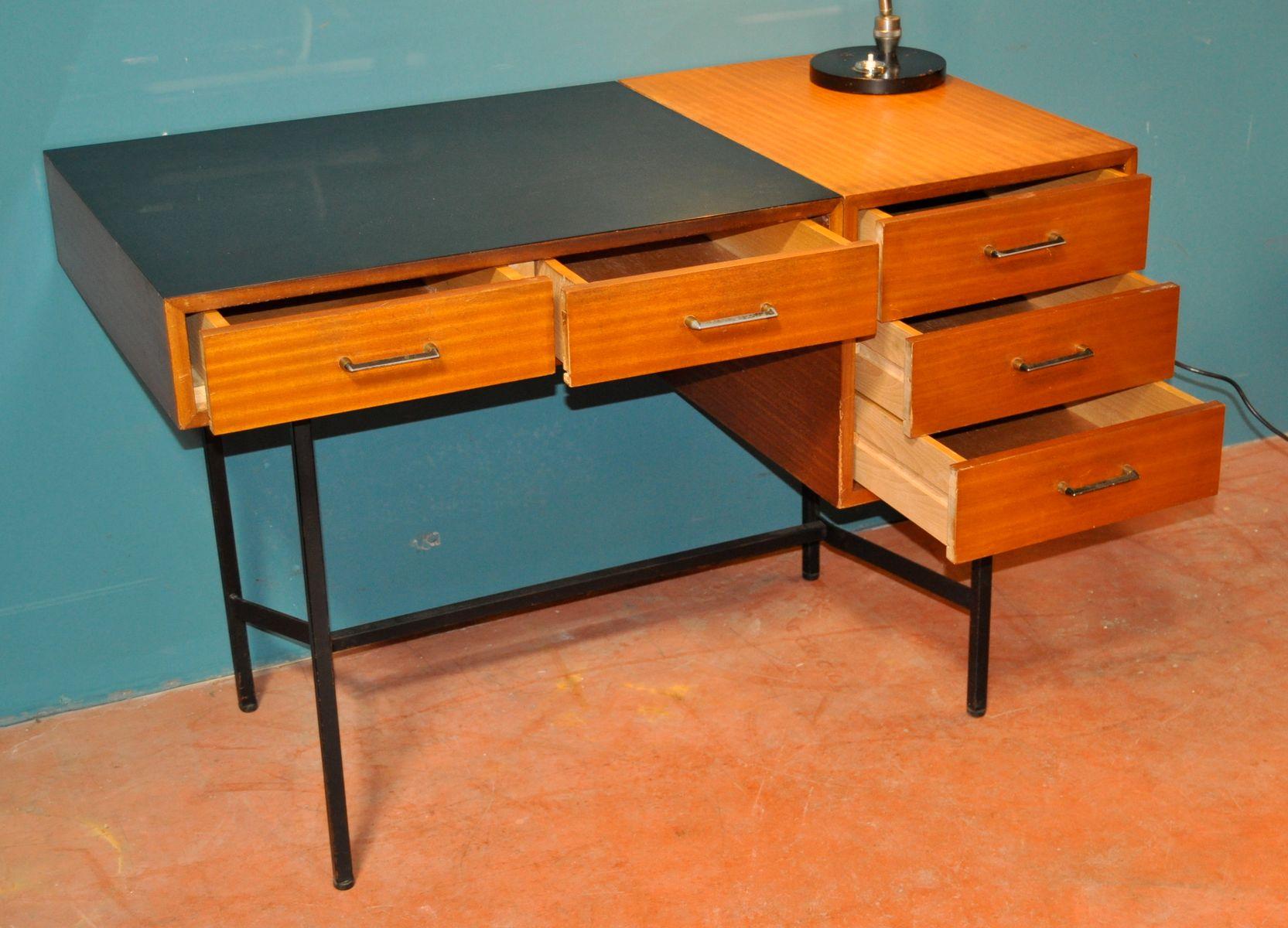 franz scher vintage schreibtisch aus holz und eisen bei pamono kaufen. Black Bedroom Furniture Sets. Home Design Ideas