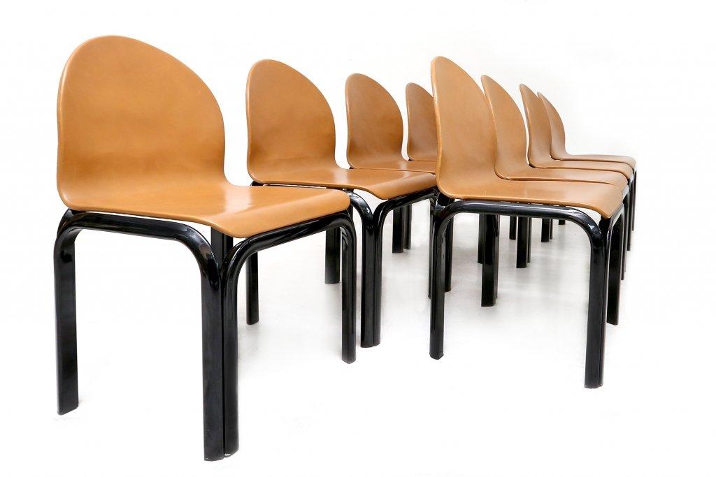 deutsche st hle von gae aulenti f r knoll 8er set bei pamono kaufen. Black Bedroom Furniture Sets. Home Design Ideas