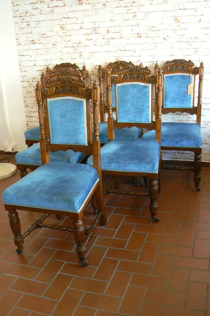 antike eichenholz esszimmerst hle 6er set bei pamono kaufen. Black Bedroom Furniture Sets. Home Design Ideas