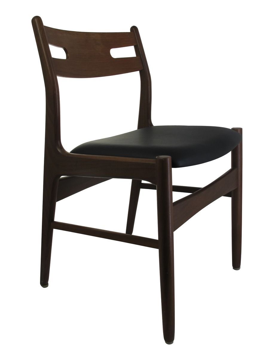 Mid century teak dining chairs set of 4 for sale at pamono for Dining chairs 4 set