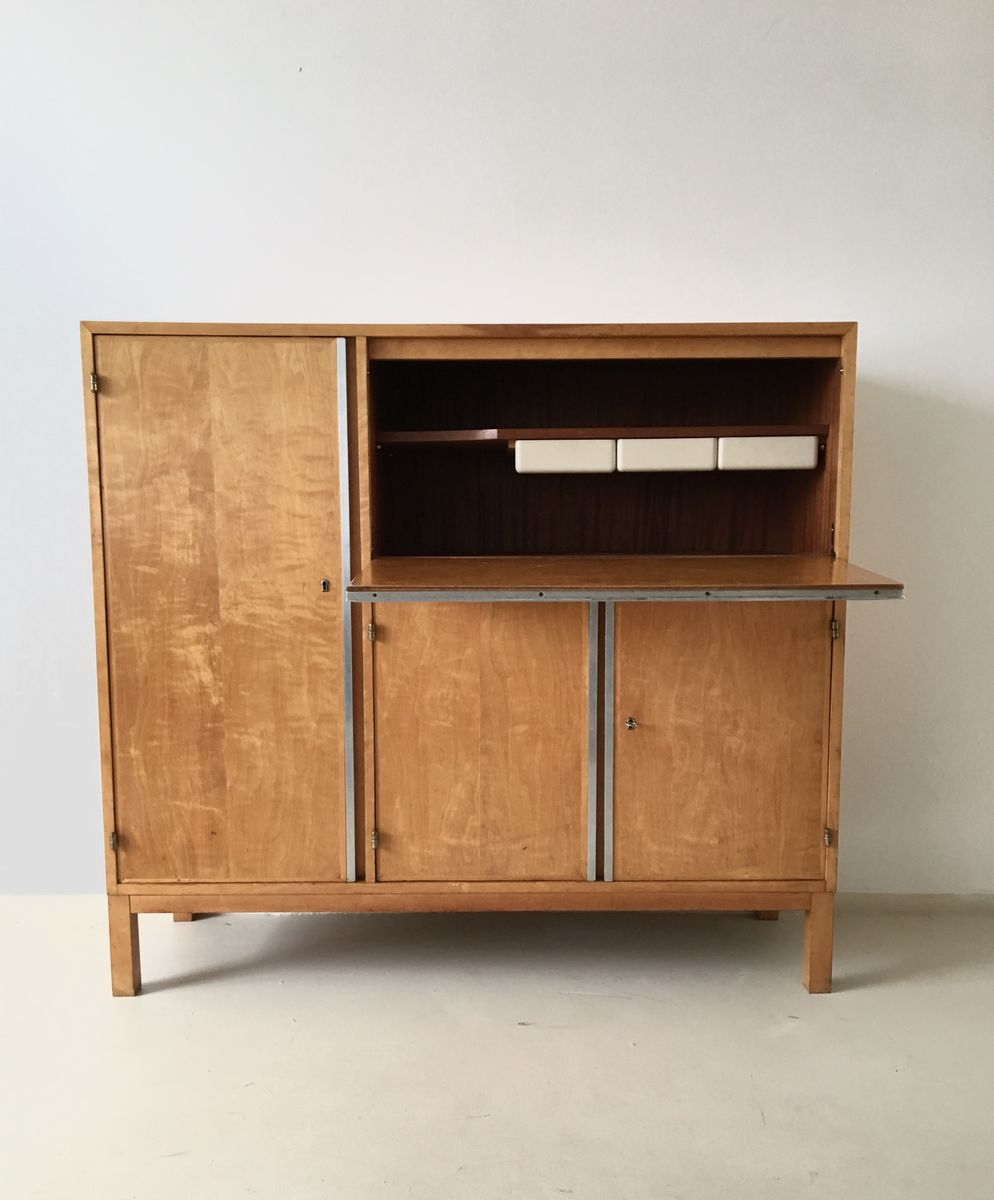 Mid Century Dutch Birch Cabinet For Sale At Pamono