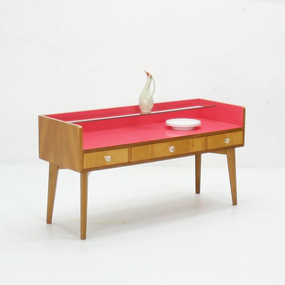 lowboard aus eschenholz und glas 1950er bei pamono kaufen. Black Bedroom Furniture Sets. Home Design Ideas