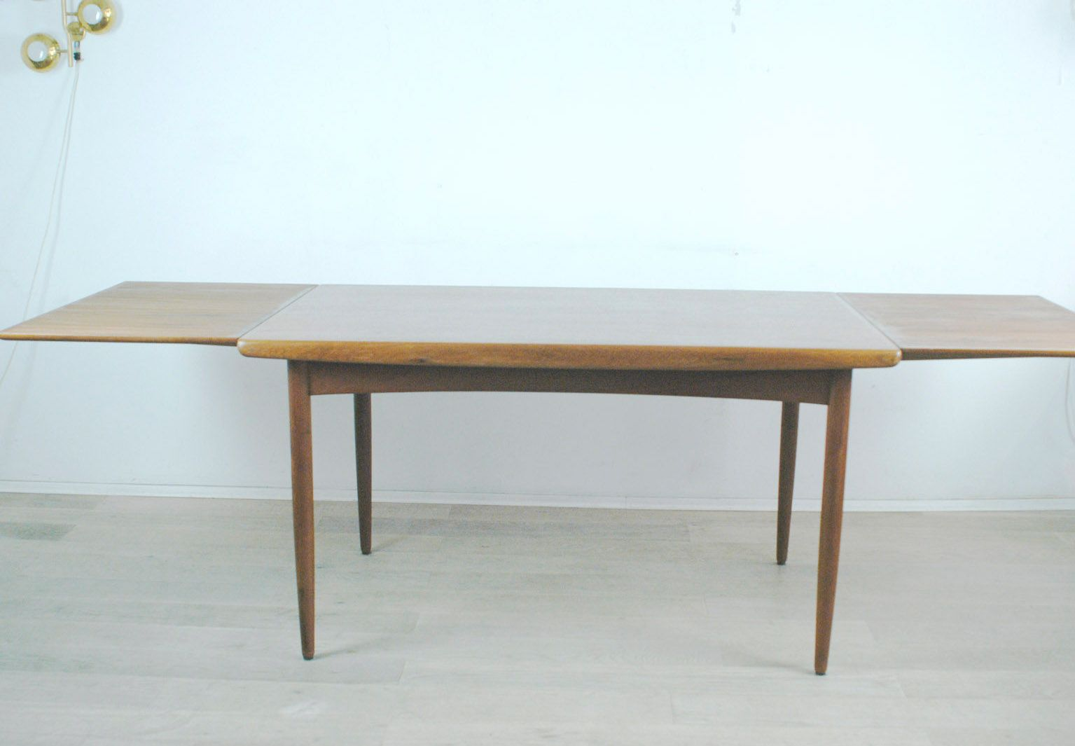 danish teak extendable dining table from dyrlund 1960s