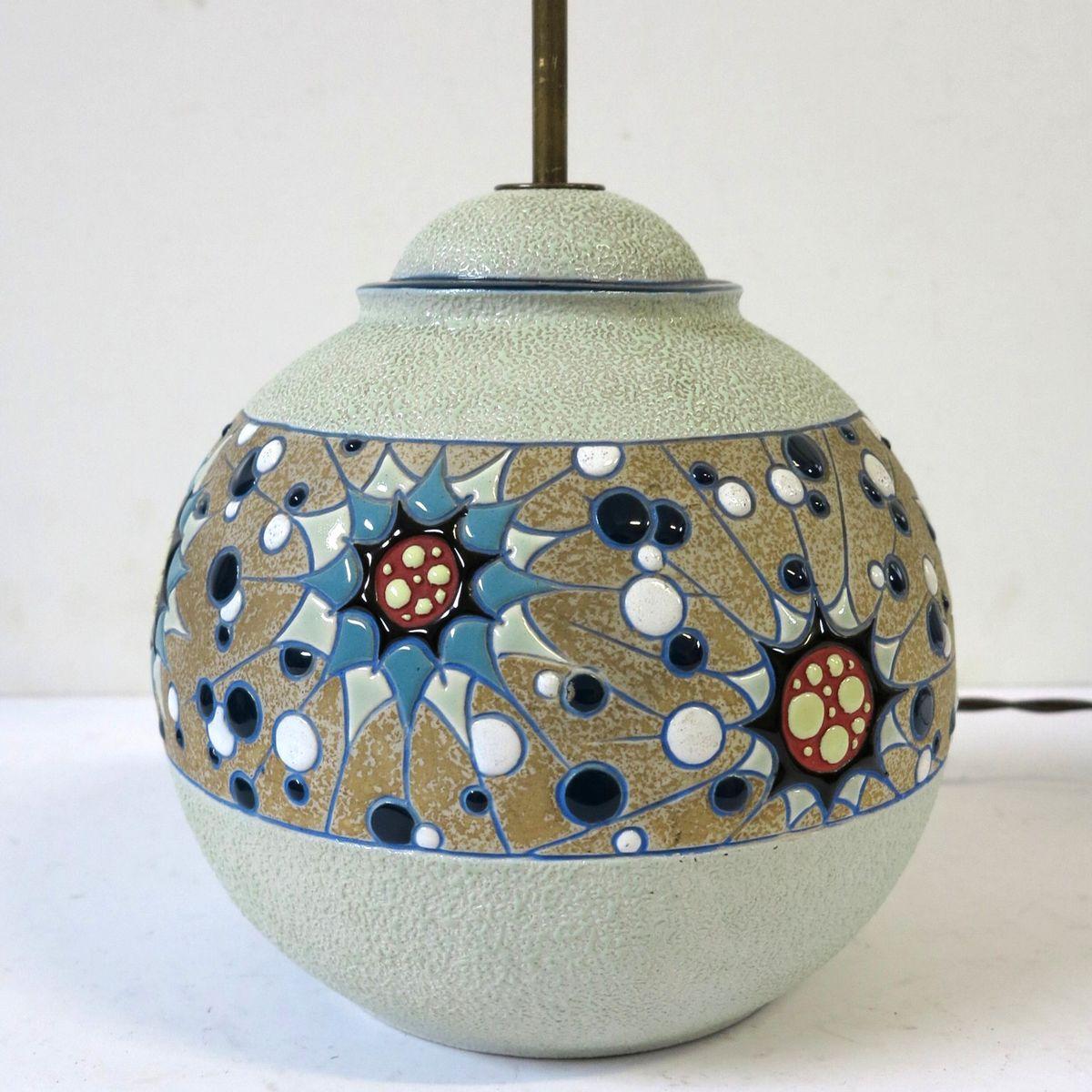 art deco keramik lampe von amphora 1930er bei pamono kaufen. Black Bedroom Furniture Sets. Home Design Ideas