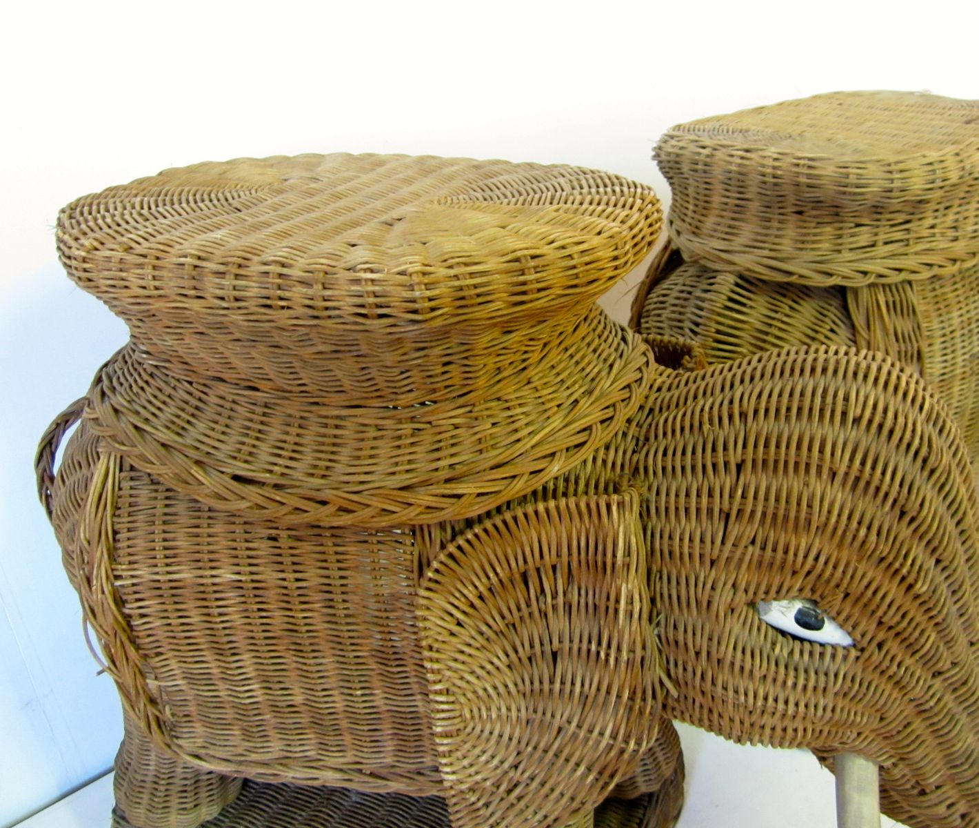 Elephant hamper wicker seagrass ash storage collection u0026 textured cotton liners popup - Wicker elephant hamper ...