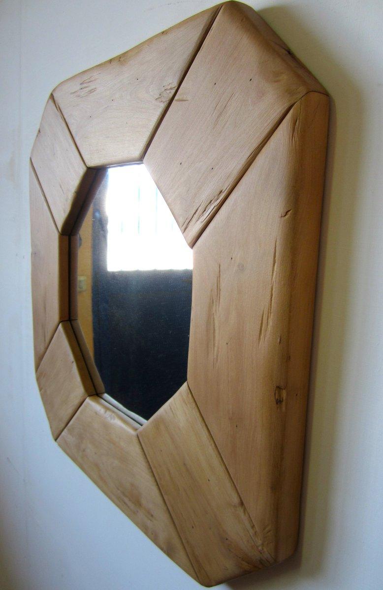italienischer spiegel mit holzrahmen 1970er bei pamono kaufen. Black Bedroom Furniture Sets. Home Design Ideas