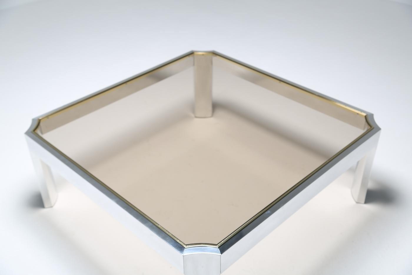 mid century couchtisch mit aluminium gestell bei pamono kaufen. Black Bedroom Furniture Sets. Home Design Ideas