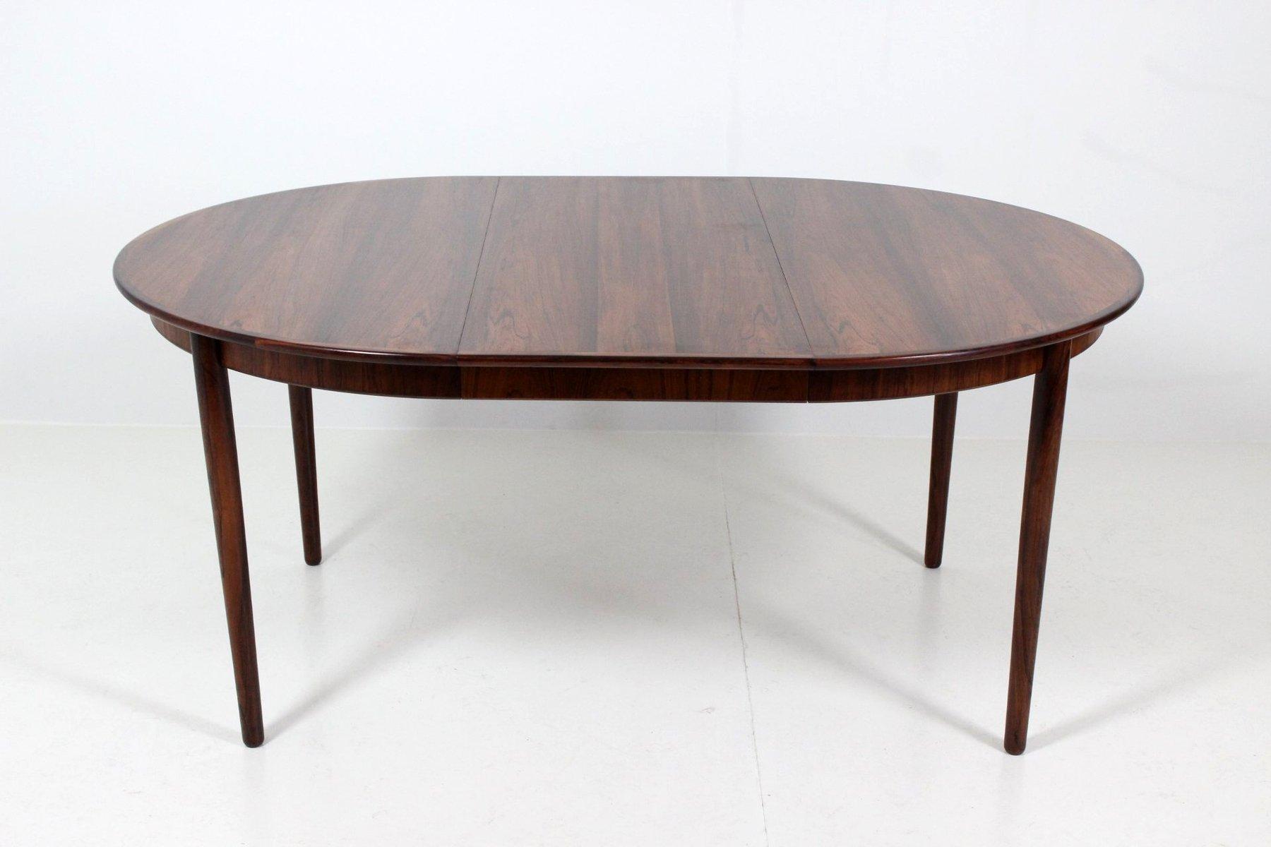 ausziehbarer runder esstisch von bernhard pedersen f r bernhard pedersen son bei pamono kaufen. Black Bedroom Furniture Sets. Home Design Ideas
