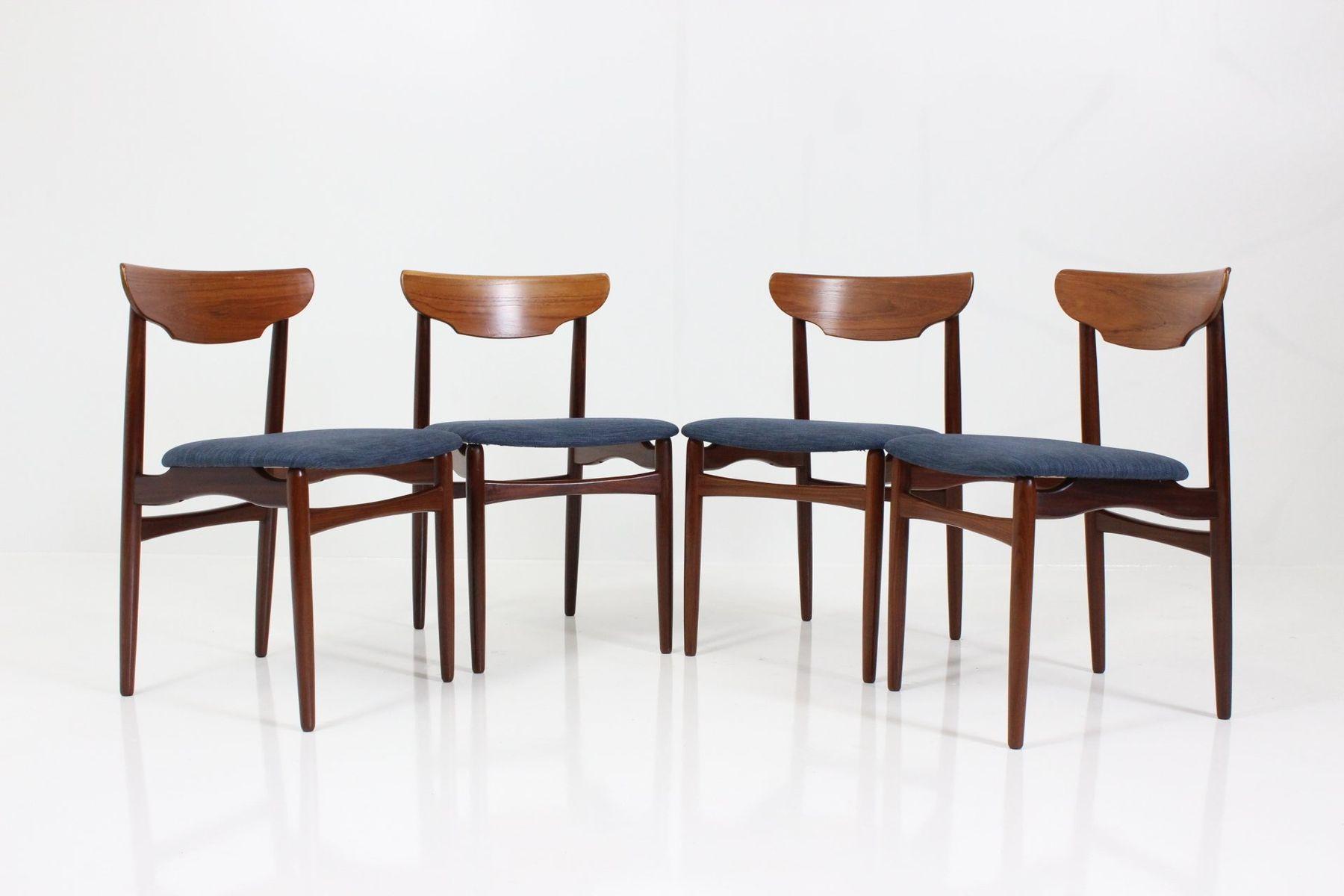 esszimmerst hle aus teakholz 4er set bei pamono kaufen. Black Bedroom Furniture Sets. Home Design Ideas