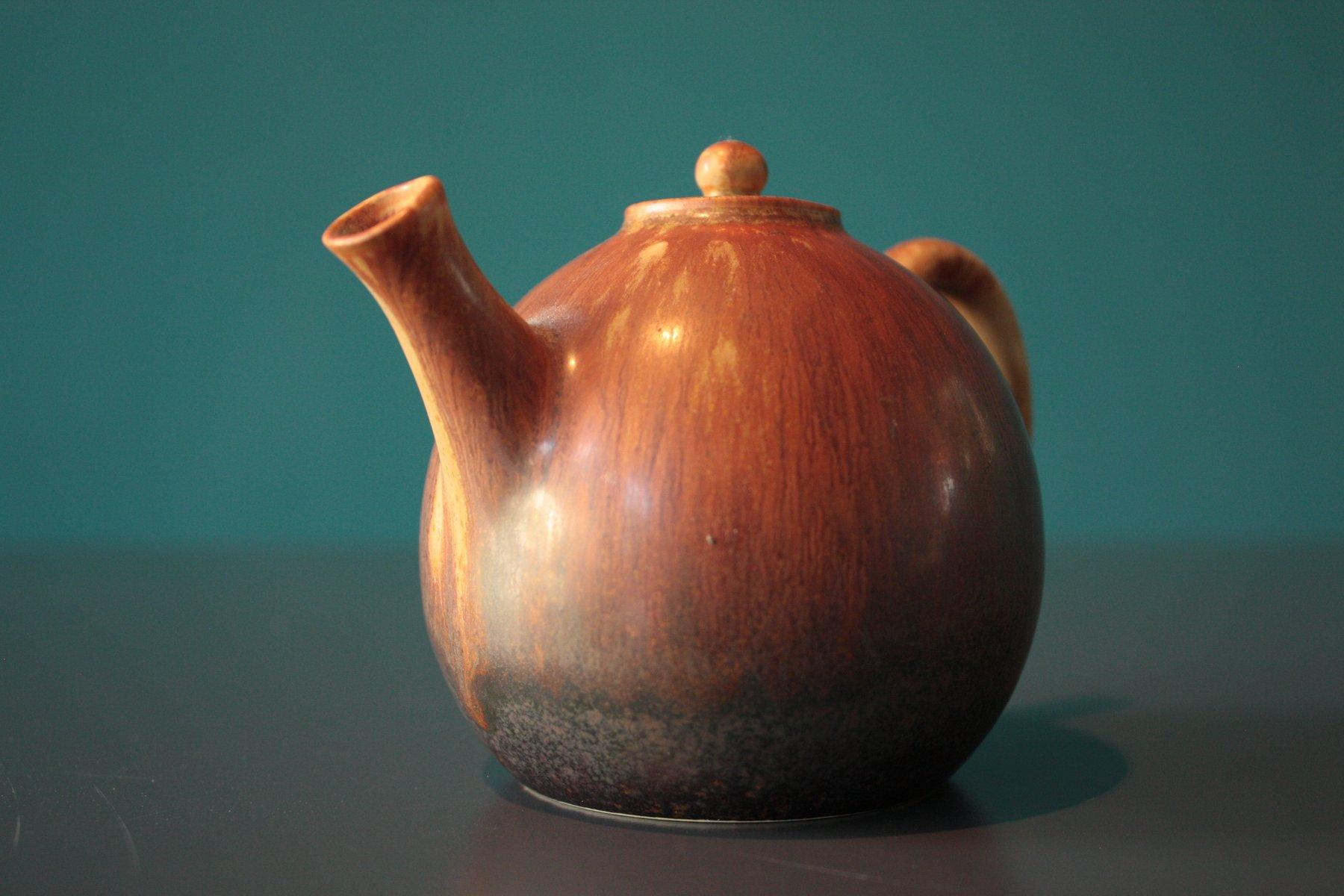 teekanne aus keramik von carl harry st lhane f r r rstrand bei pamono kaufen. Black Bedroom Furniture Sets. Home Design Ideas