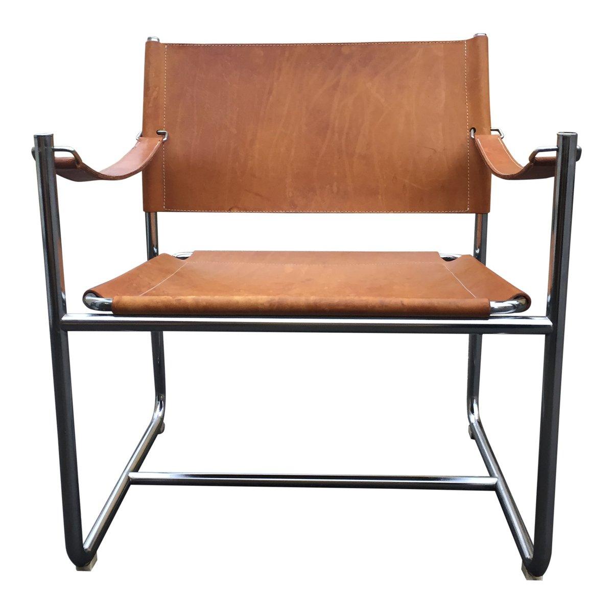 Leder safari stuhl von karin mobring f r ikea bei pamono for Design stuhl ikea