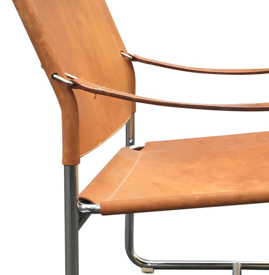 leather safari chair by karin mobring for ikea for sale at pamono
