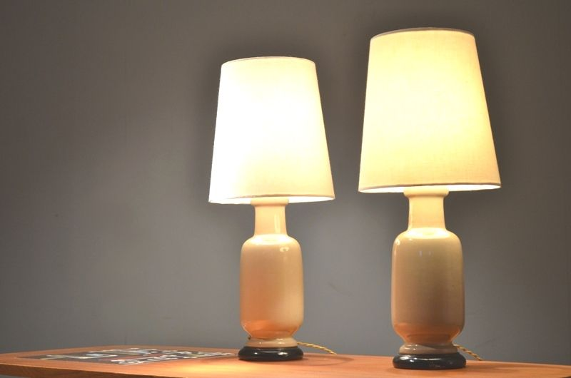 Japanese style table lamps from porcelaine de paris set - Porcelaine de table ...