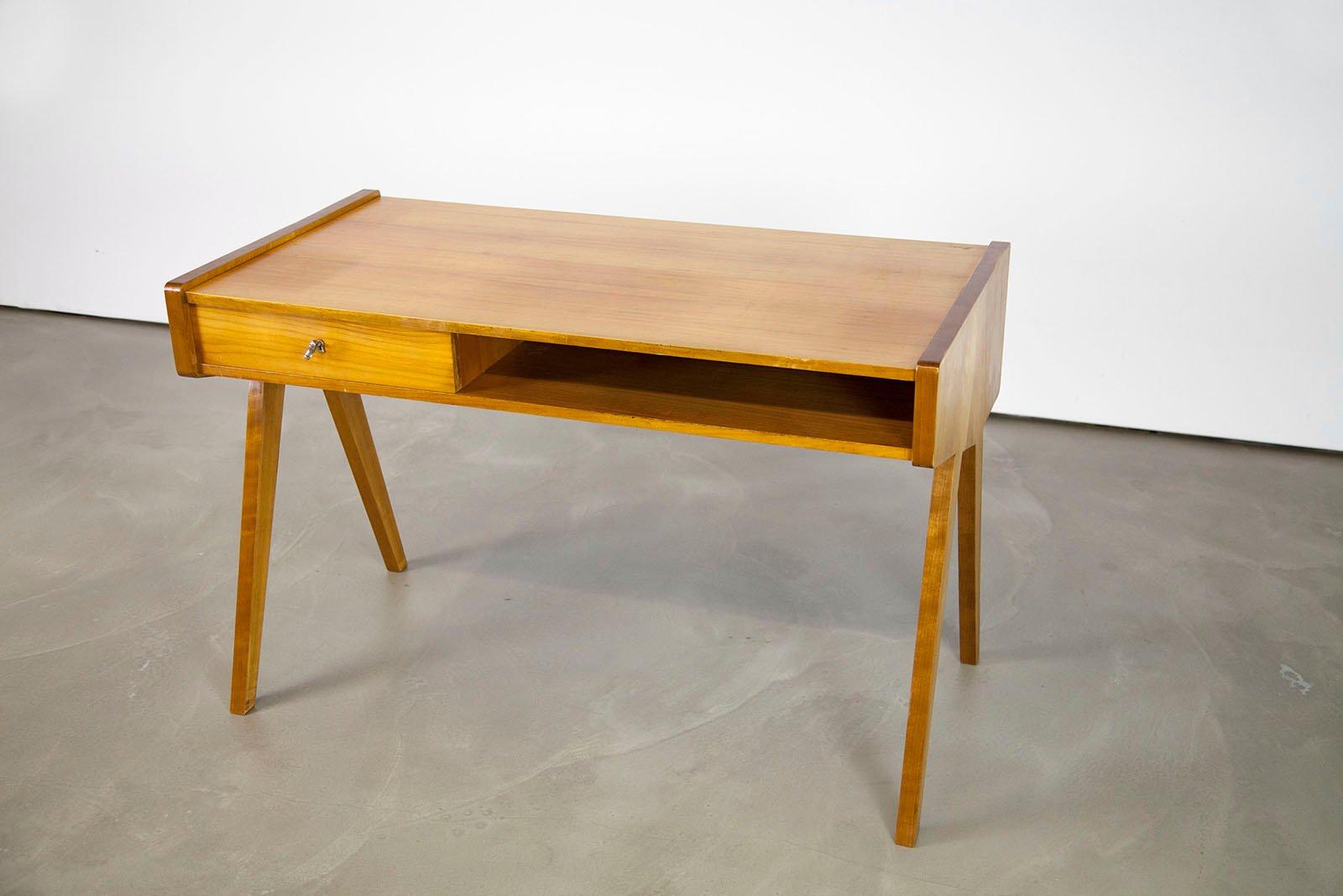 Mid century modern desk by helmut magg for vereinigte werkstätten 1950s