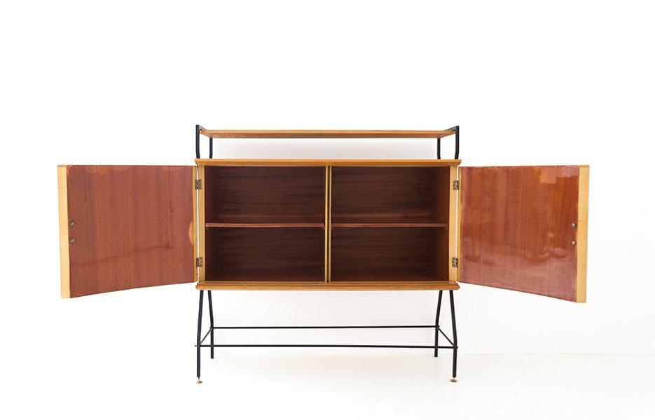 italienisches mid century sideboard aus holz und eisen bei pamono kaufen. Black Bedroom Furniture Sets. Home Design Ideas