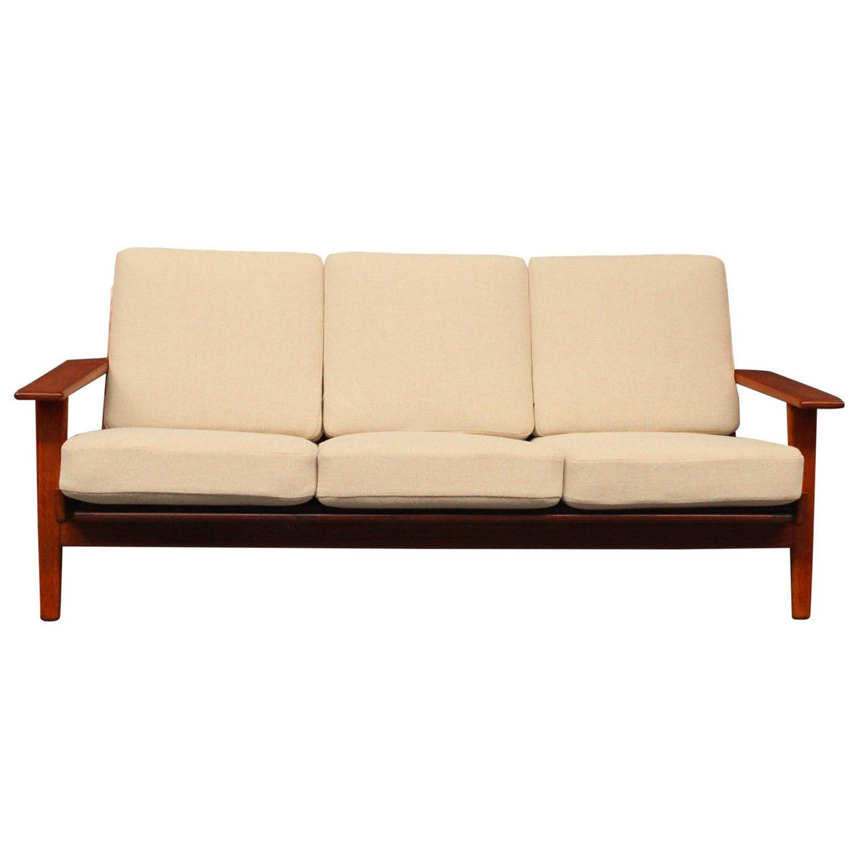 ge290 teak sofa by hans j wegner for getama 1960s for sale at pamono. Black Bedroom Furniture Sets. Home Design Ideas