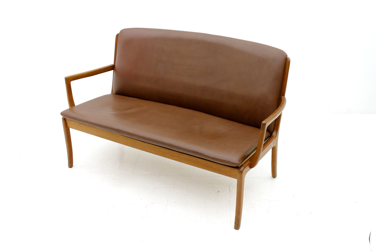 Teak Leather Sofa By Ole Wanscher For Cado For Sale At Pamono