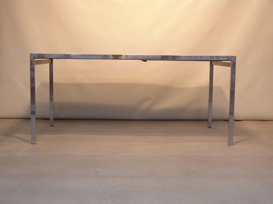 ausziehbarer wei er esstisch von cees braakman f r pastoe bei pamono kaufen. Black Bedroom Furniture Sets. Home Design Ideas