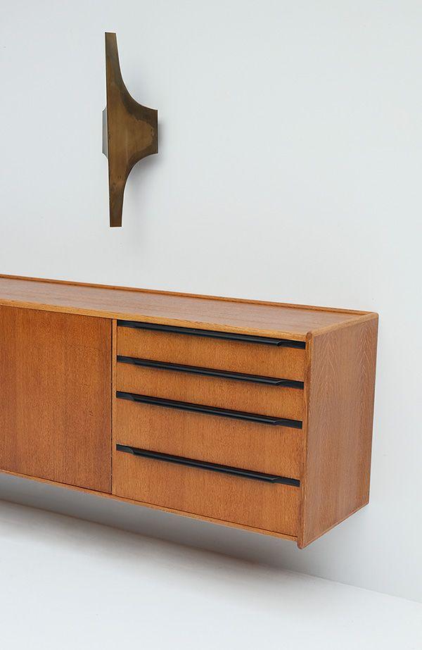 schwebendes eichenholz sideboard von cees braakman f r pastoe bei pamono kaufen. Black Bedroom Furniture Sets. Home Design Ideas