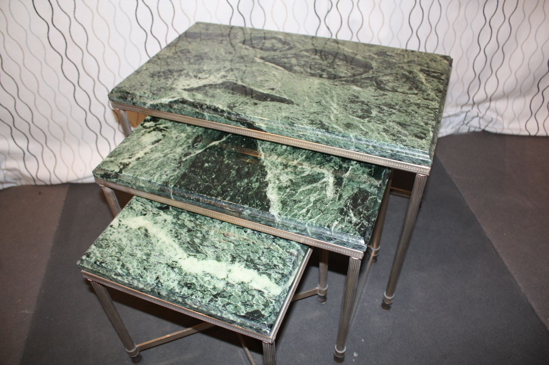 Marble Nesting Tables 1960s For Sale At Pamono. Full resolution  portraiture, nominally Width 1802 Height 1200 pixels, portraiture with #645D4D.