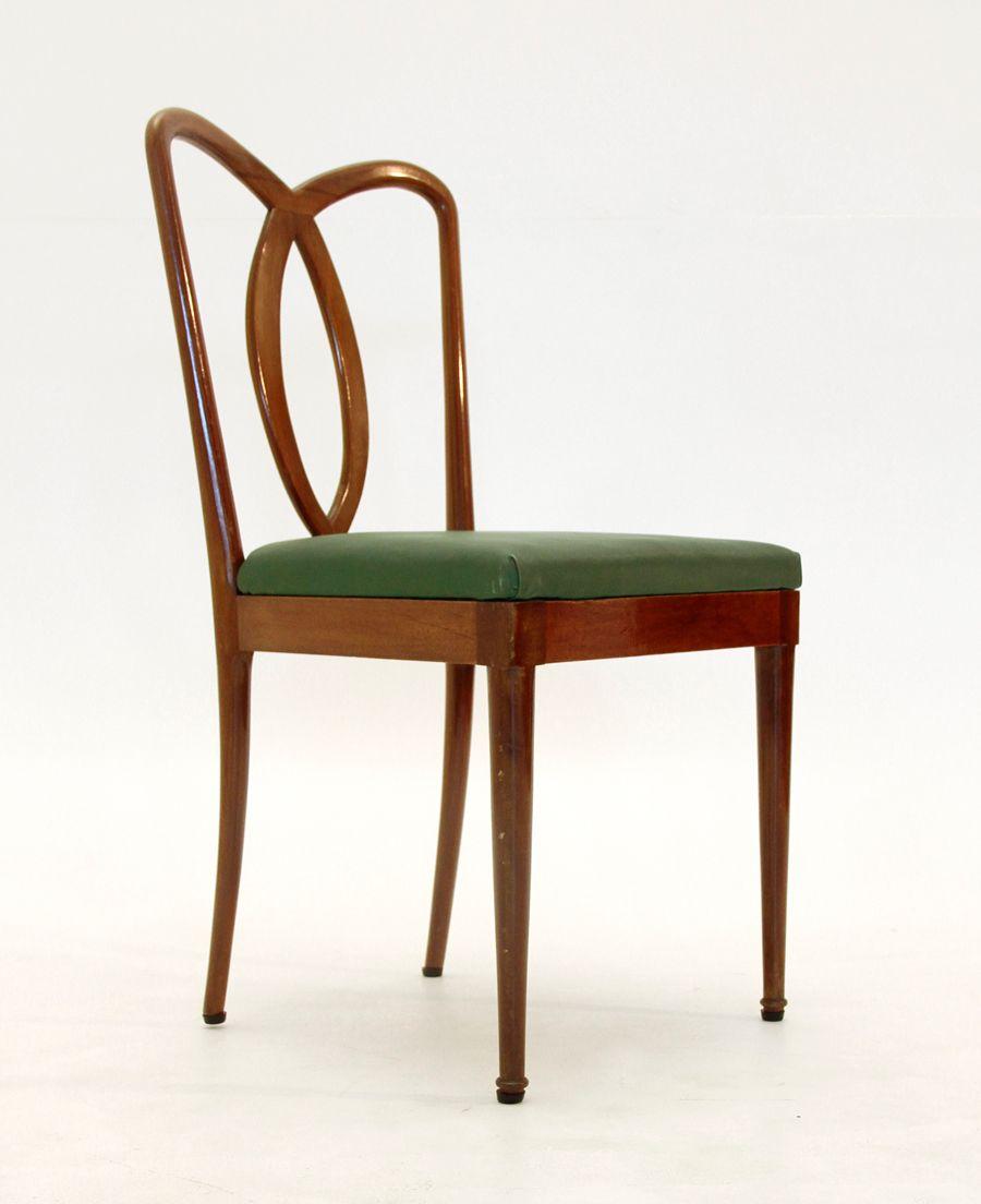 italienische midcentury esszimmerst hle 1950er 6er set. Black Bedroom Furniture Sets. Home Design Ideas