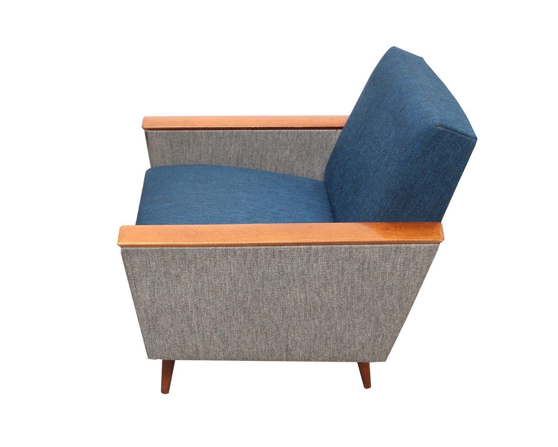 Geräumig Armlehnstuhl Grau Foto Von Vintage Sessel By Blauer Vintage Sessel Bei