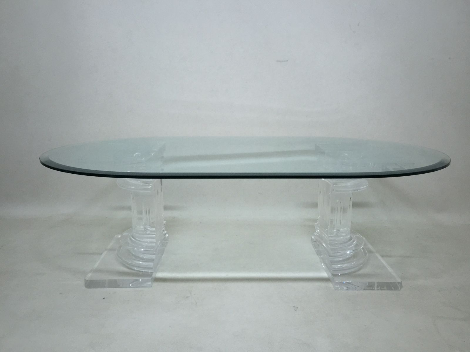Italian Lucite & Glass Coffee Table from FabianArt for sale at Pamono