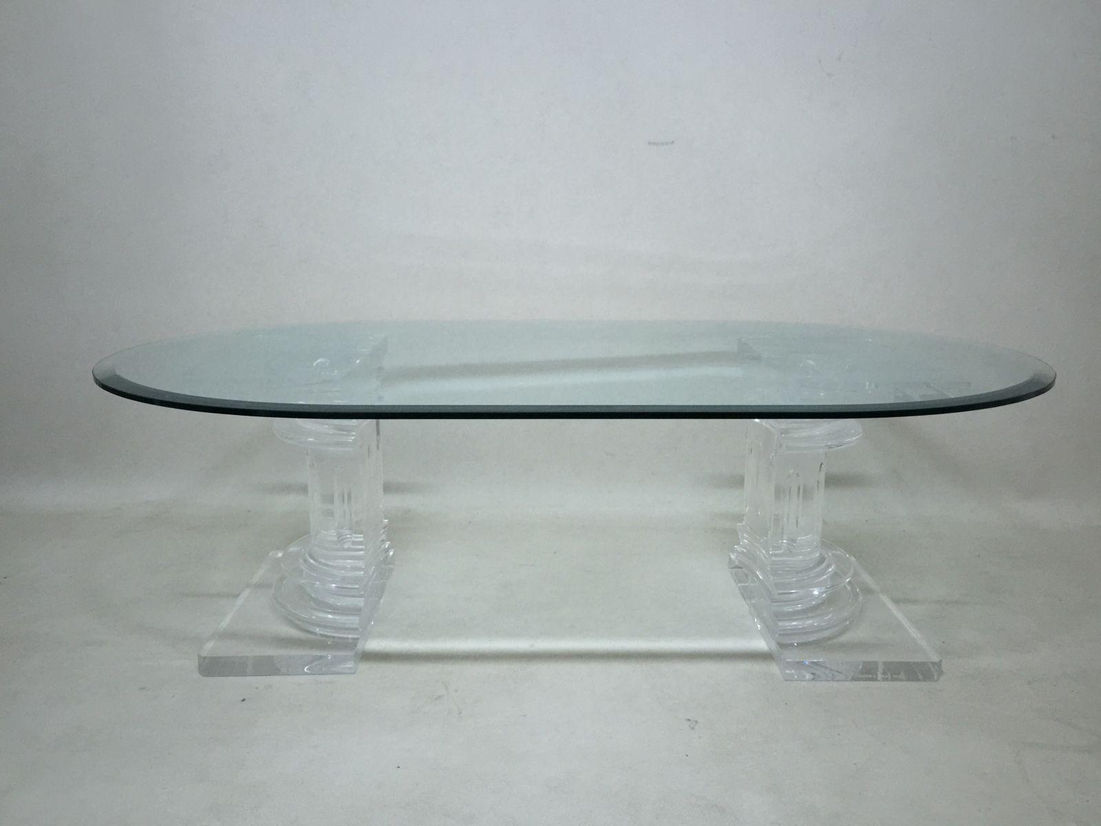 Italienischer Couchtisch aus Plexiglas und Glas von