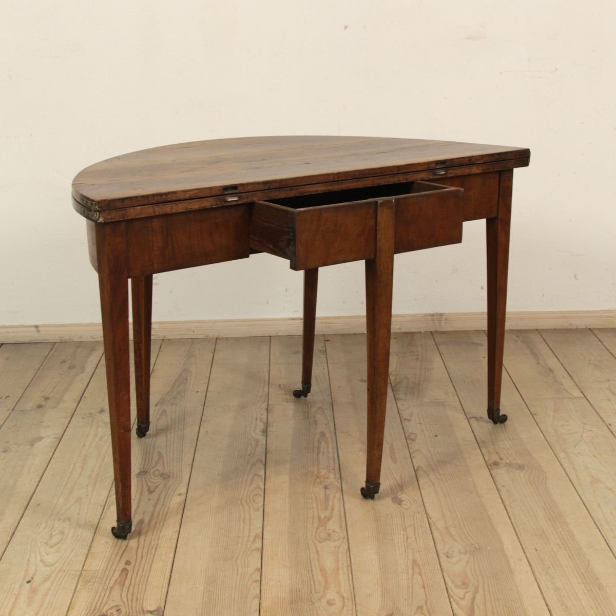 Antique biedermeier demi lune table for sale at pamono - Table cuisine demi lune ...