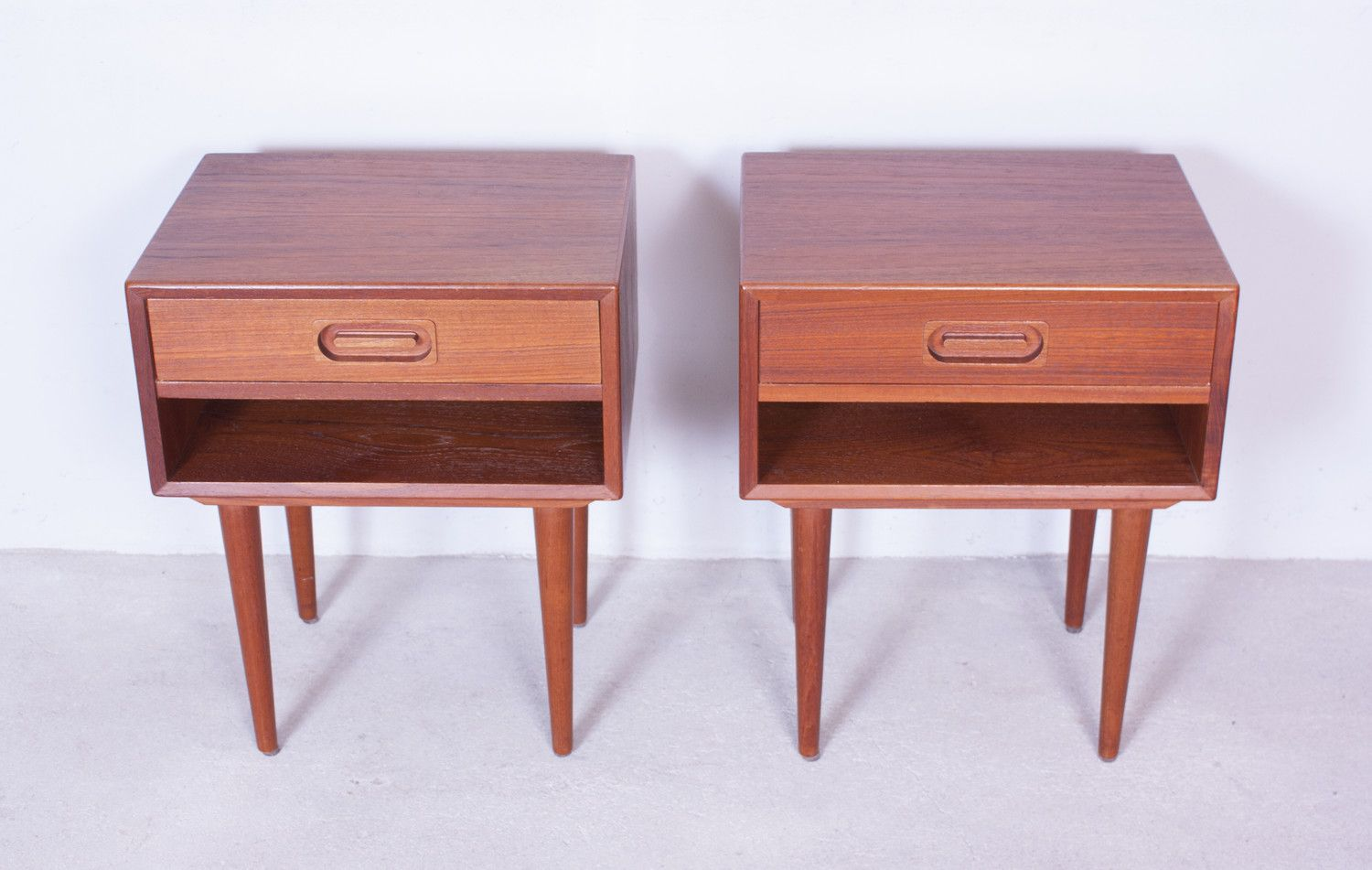 Vintage Teak Nightstands by Dyrlund Set of 2 for sale at Pamono