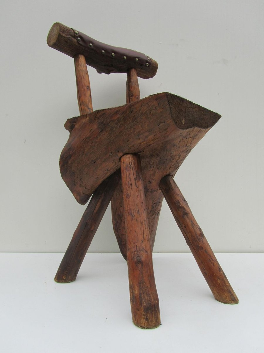 Artisan crafted tree trunk mountain chair for sale at pamono - Chair made from tree trunk ...