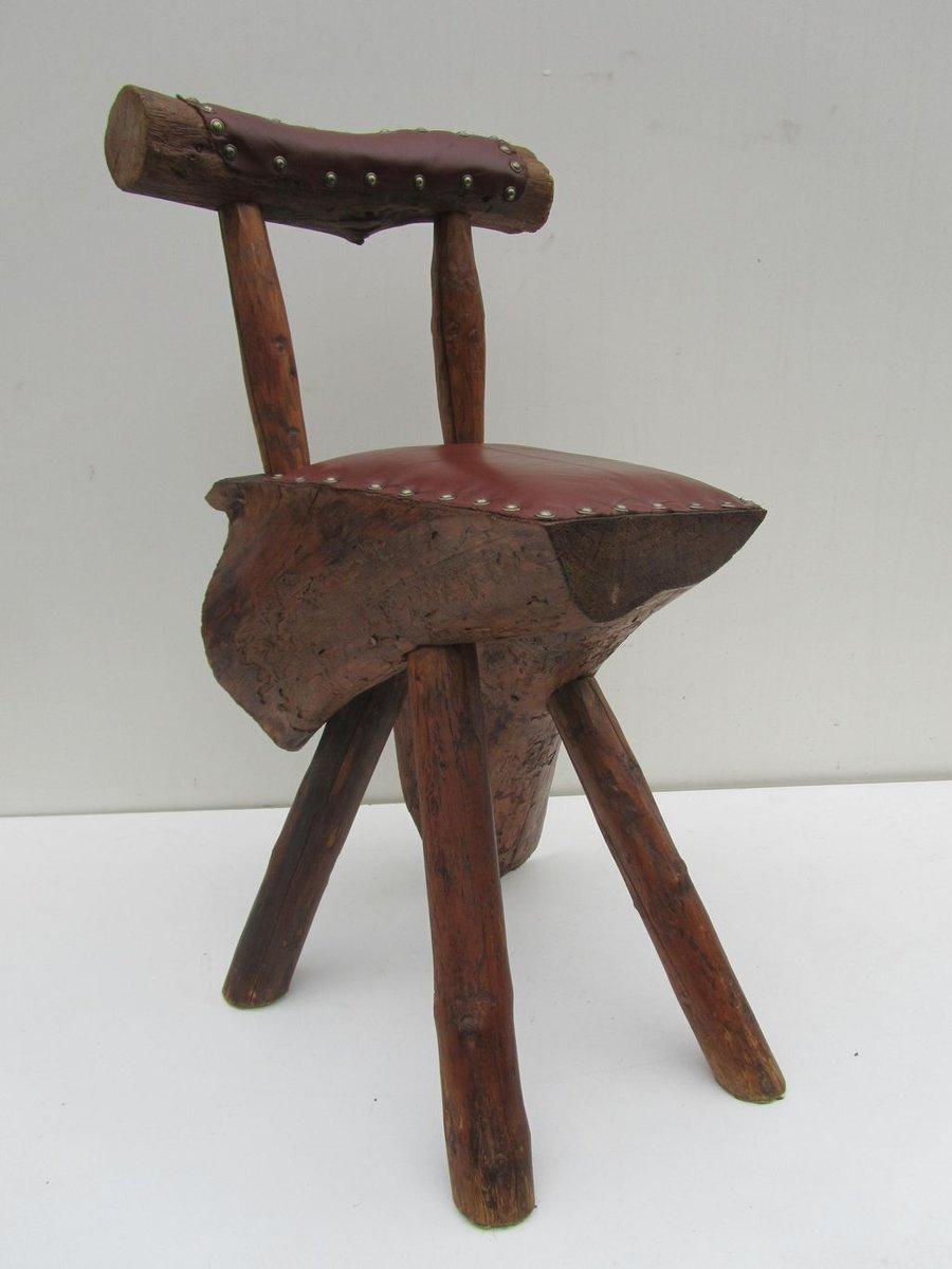 handgemachter baumstamm stuhl bei pamono kaufen. Black Bedroom Furniture Sets. Home Design Ideas