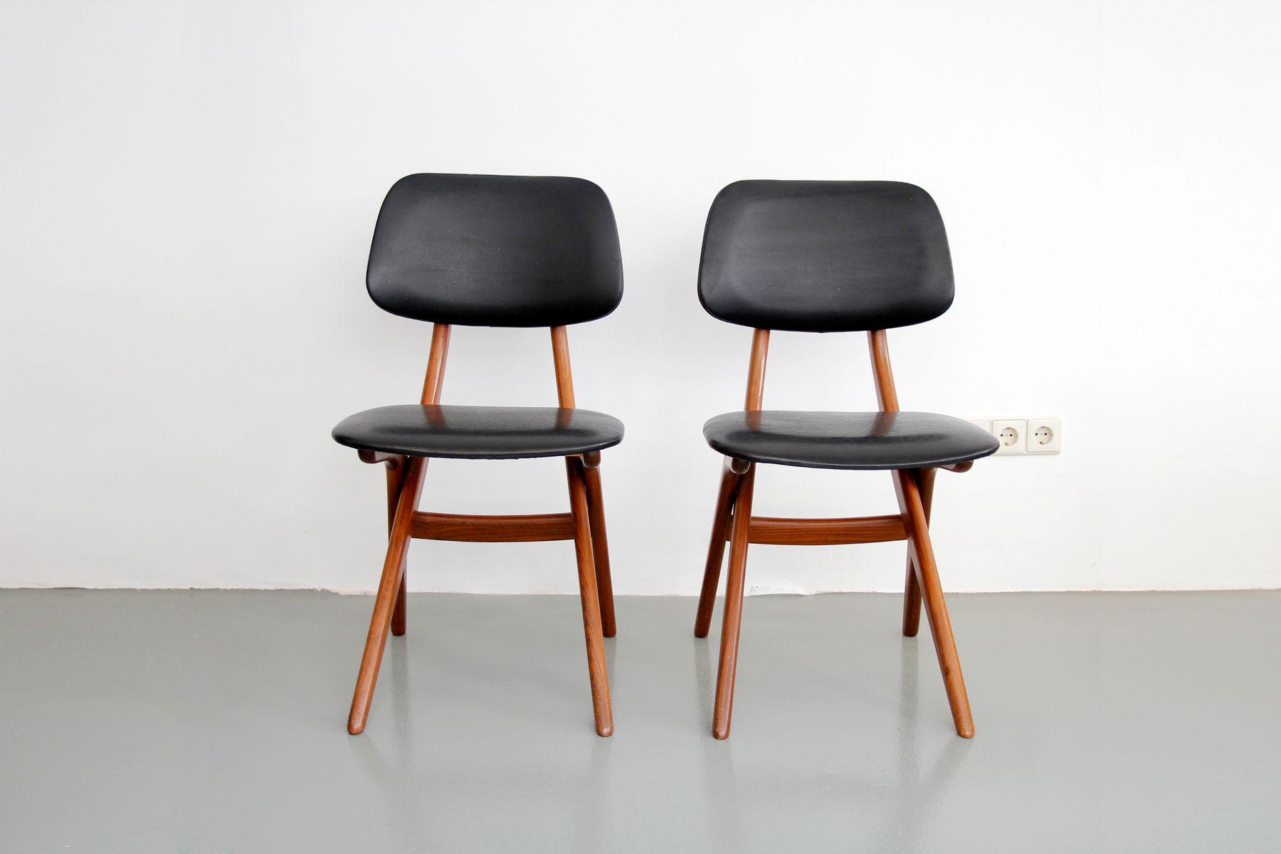 Midcentury Teak Side Chairs by Louis van Teeffelen for  : midcentury teak side chairs by louis van teeffelen for webe set of 2 2 from www.pamono.co.uk size 1800 x 1200 jpeg 68kB