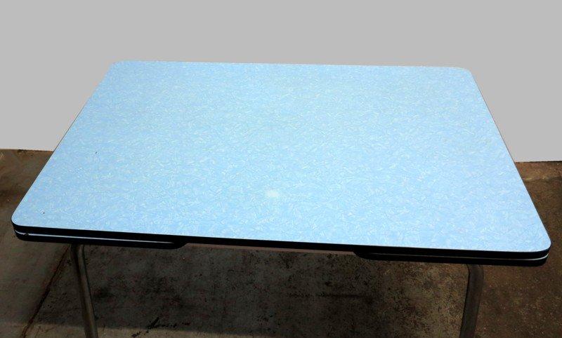 Table de salle manger bleu ciel rallonge en vente sur for 3 suisses table de salle a manger
