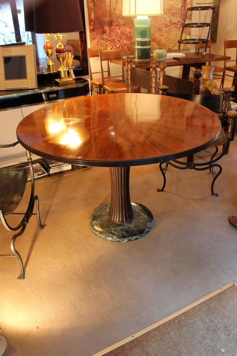italienischer palisander und marmor tisch von osvaldo. Black Bedroom Furniture Sets. Home Design Ideas