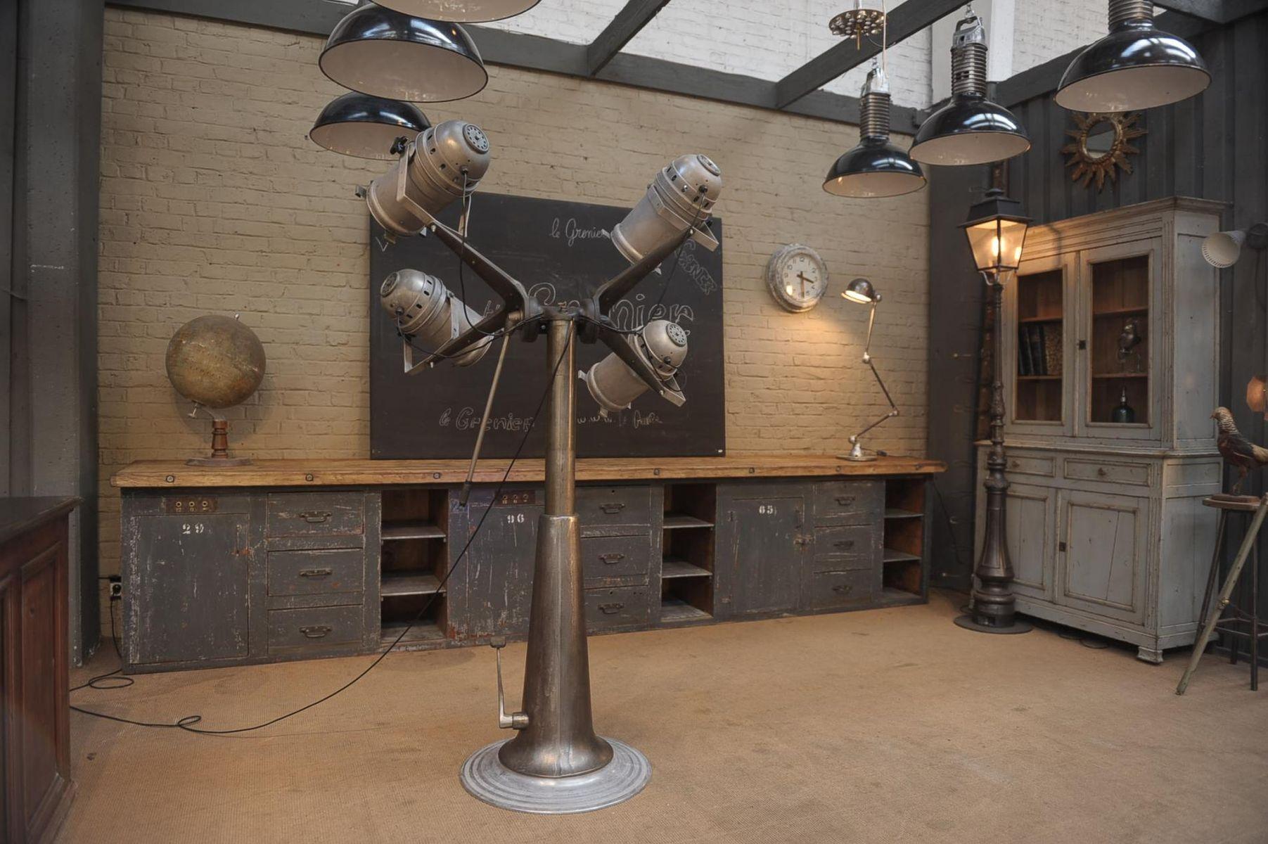 large vintage industrial spotlight floor lamp for sale at. Black Bedroom Furniture Sets. Home Design Ideas