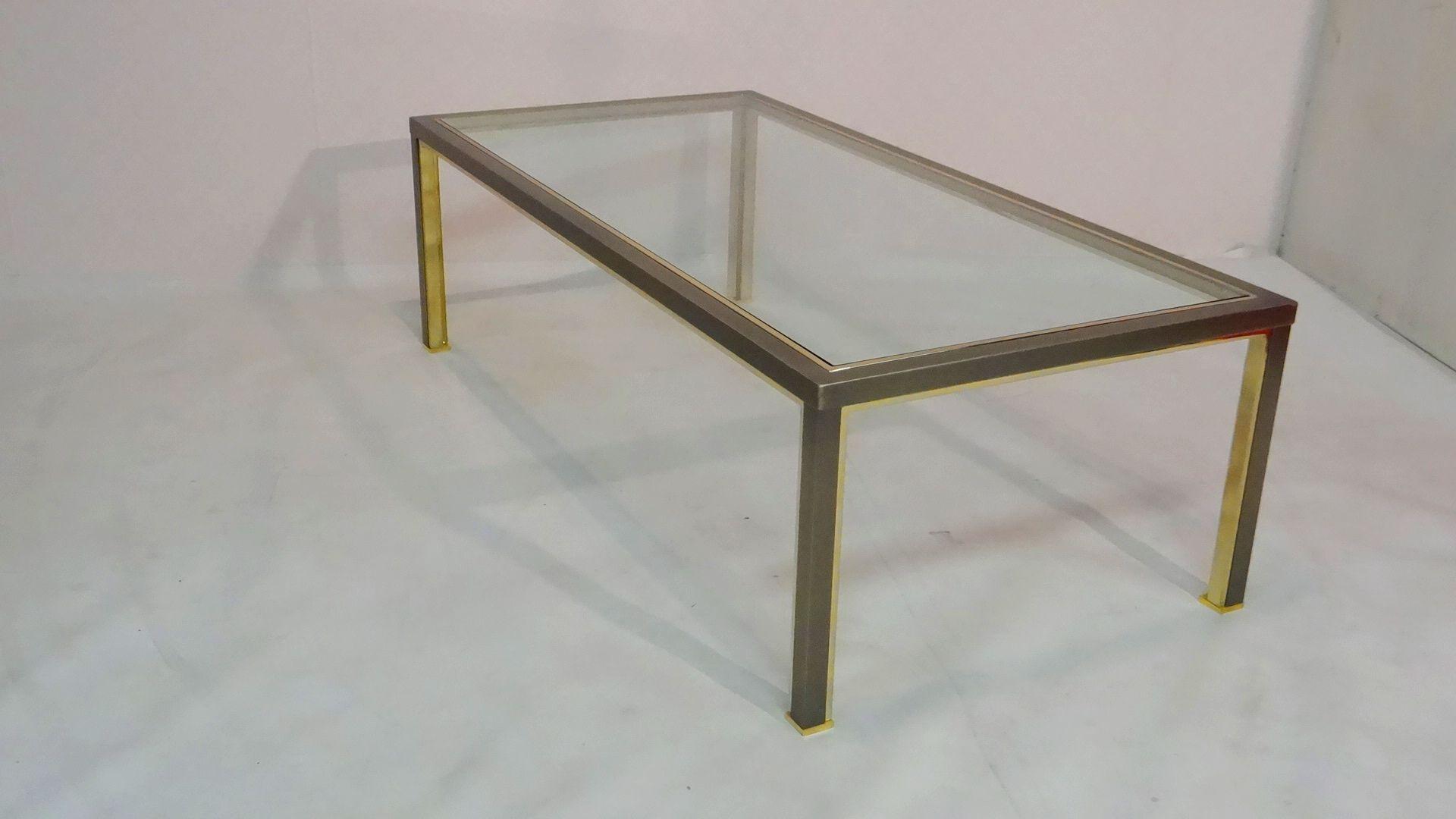 couchtisch aus geb rstetem stahl bei pamono kaufen. Black Bedroom Furniture Sets. Home Design Ideas