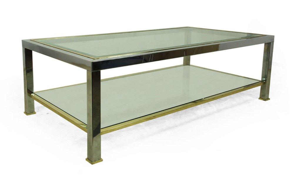 chrom glas couchtisch 1970er bei pamono kaufen. Black Bedroom Furniture Sets. Home Design Ideas