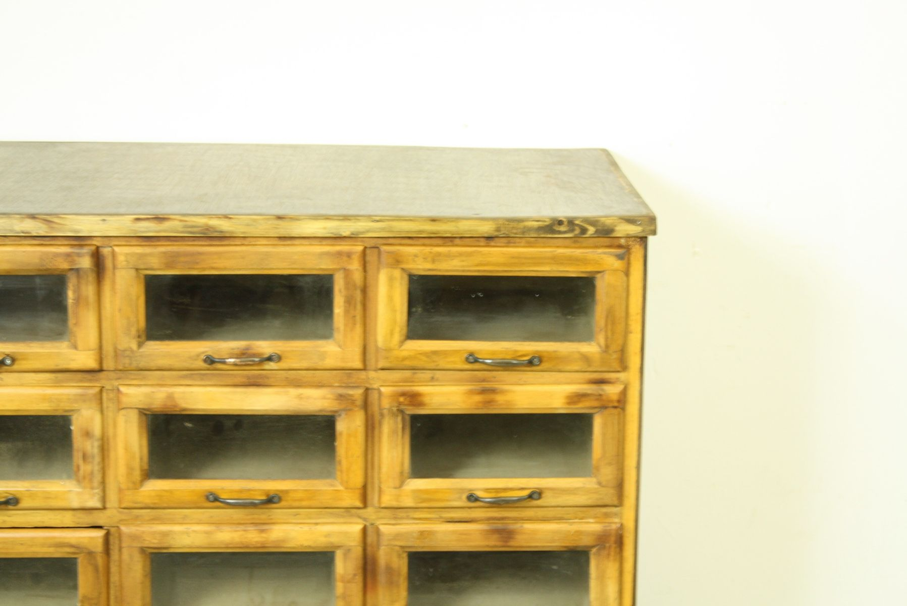 Vintage british 15 drawer oak haberdashery cabinet for for British traditions kitchen cabinets
