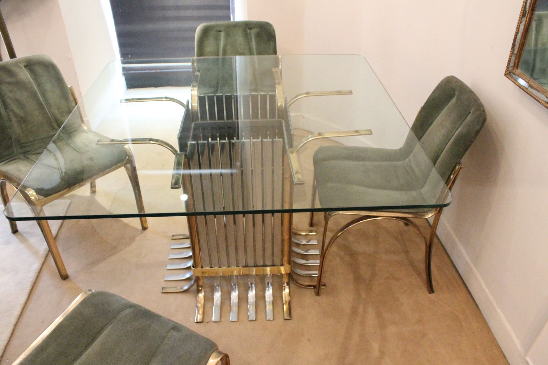 Italian Glass Dining Table with Four Chairs 1970 for sale  : italian glass dining table with four chairs 1970 25 from www.pamono.co.uk size 1800 x 1200 jpeg 173kB