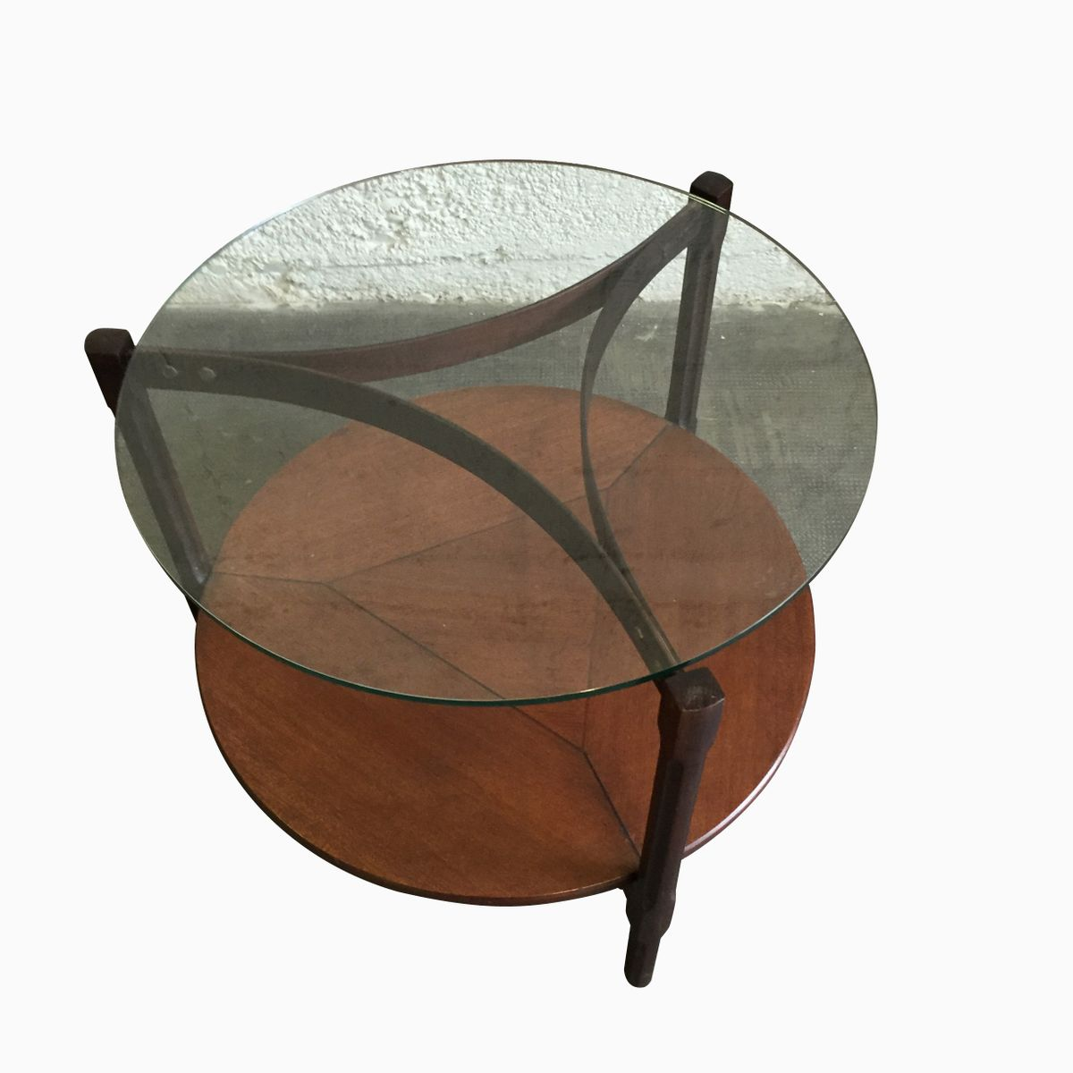 Wood And Glass Coffee Table From Frattini For Sale At Pamono