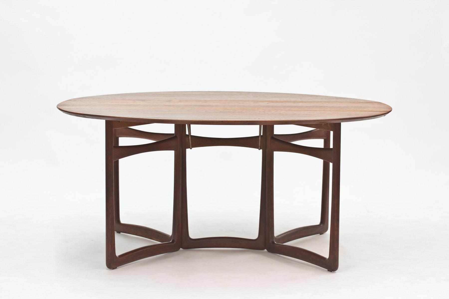 Teak Drop Leaf Dining Table by Peter Hvidt & Orla M¸lgaard Nielsen