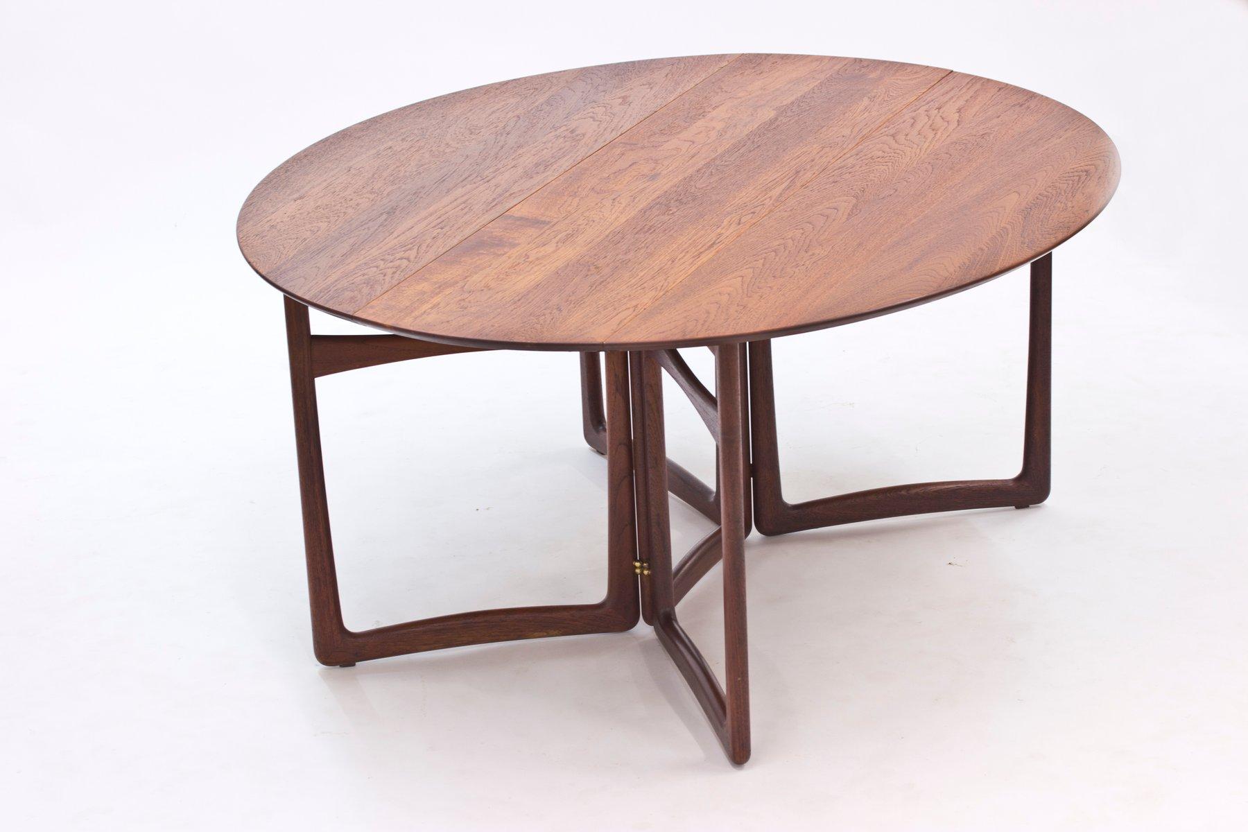 Drop Leaf Dining Table Teak Drop Leaf Dining Table By Peter Hvidt Orla Malgaard Nielsen