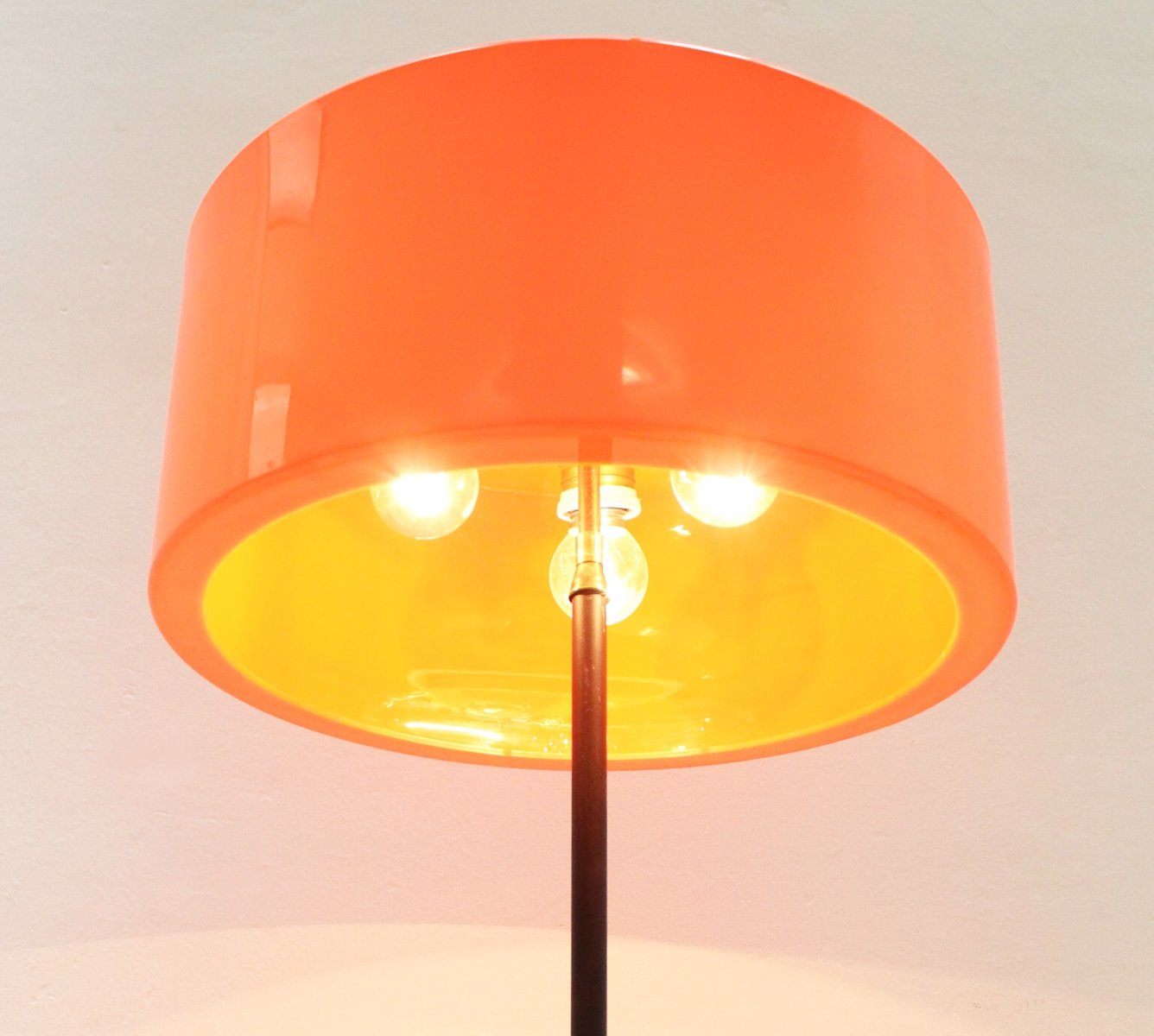italian floor lamp with orange shade s for sale at pamono - price per piece