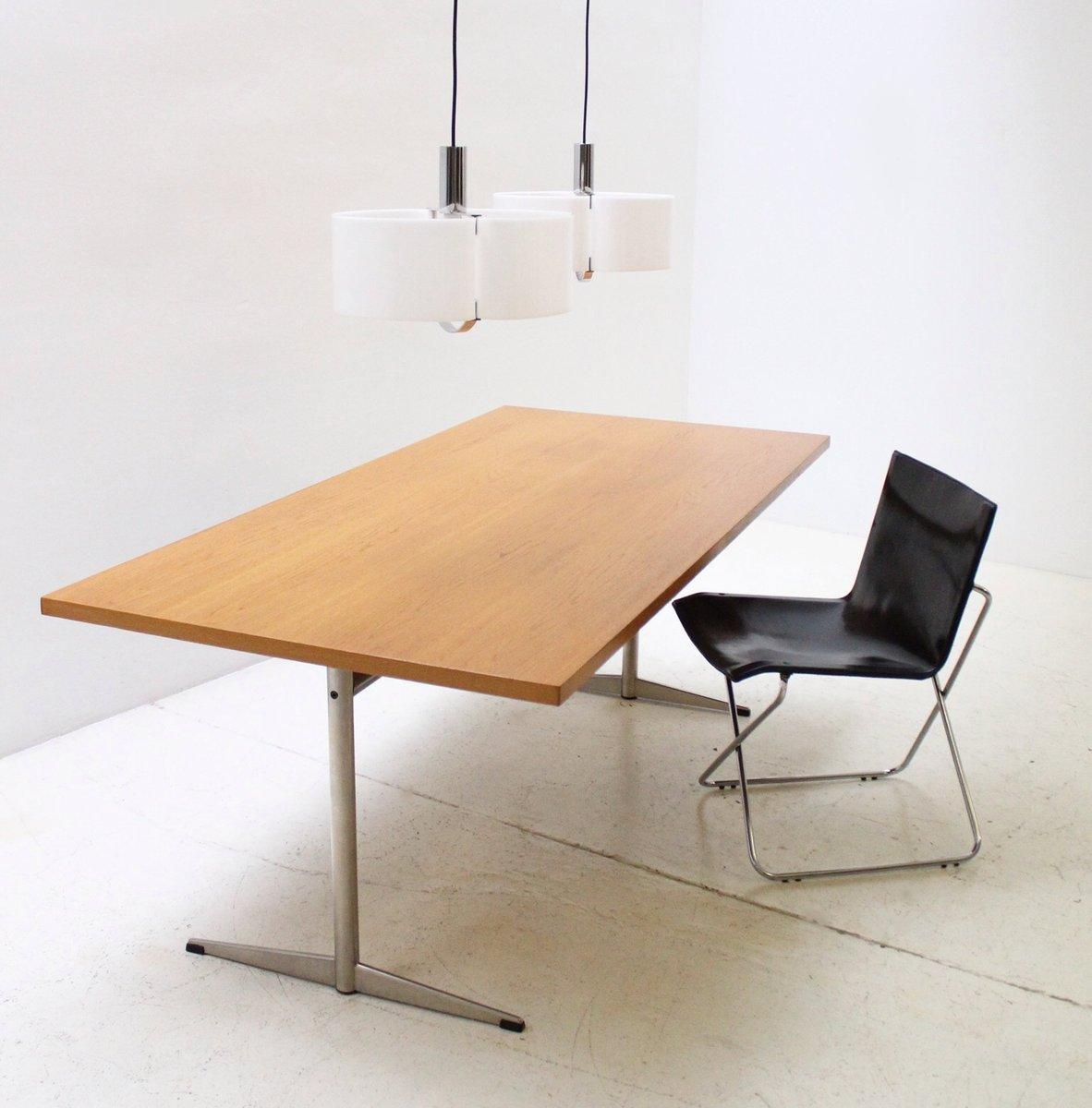 d nischer moderner eichenholz tisch 1970er bei pamono kaufen. Black Bedroom Furniture Sets. Home Design Ideas
