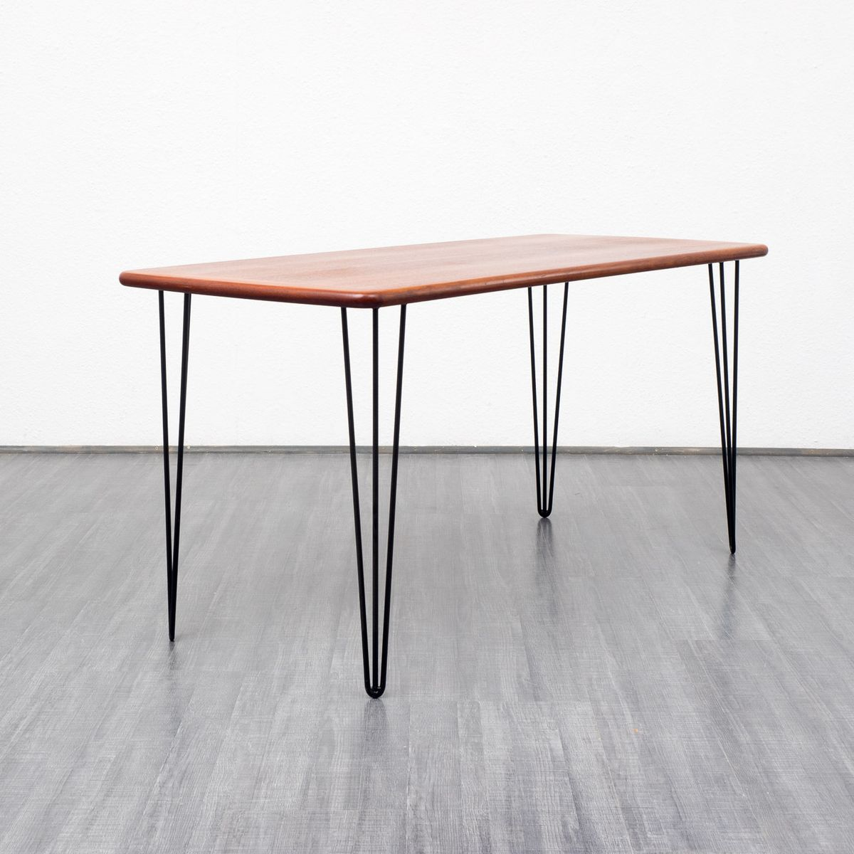 Teak Dining Table With Hairpin Legs 1960s For Sale At Pamono