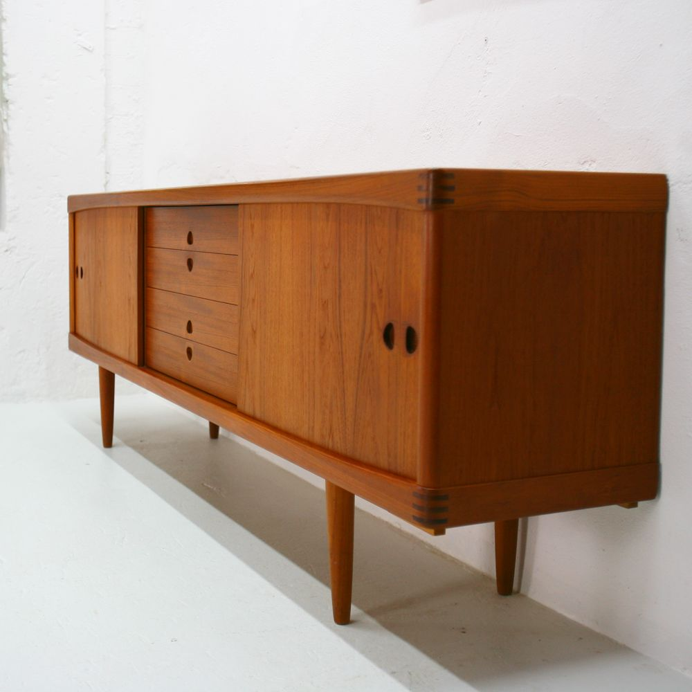 vintage teak sideboard by h w klein for bramin for sale at pamono. Black Bedroom Furniture Sets. Home Design Ideas