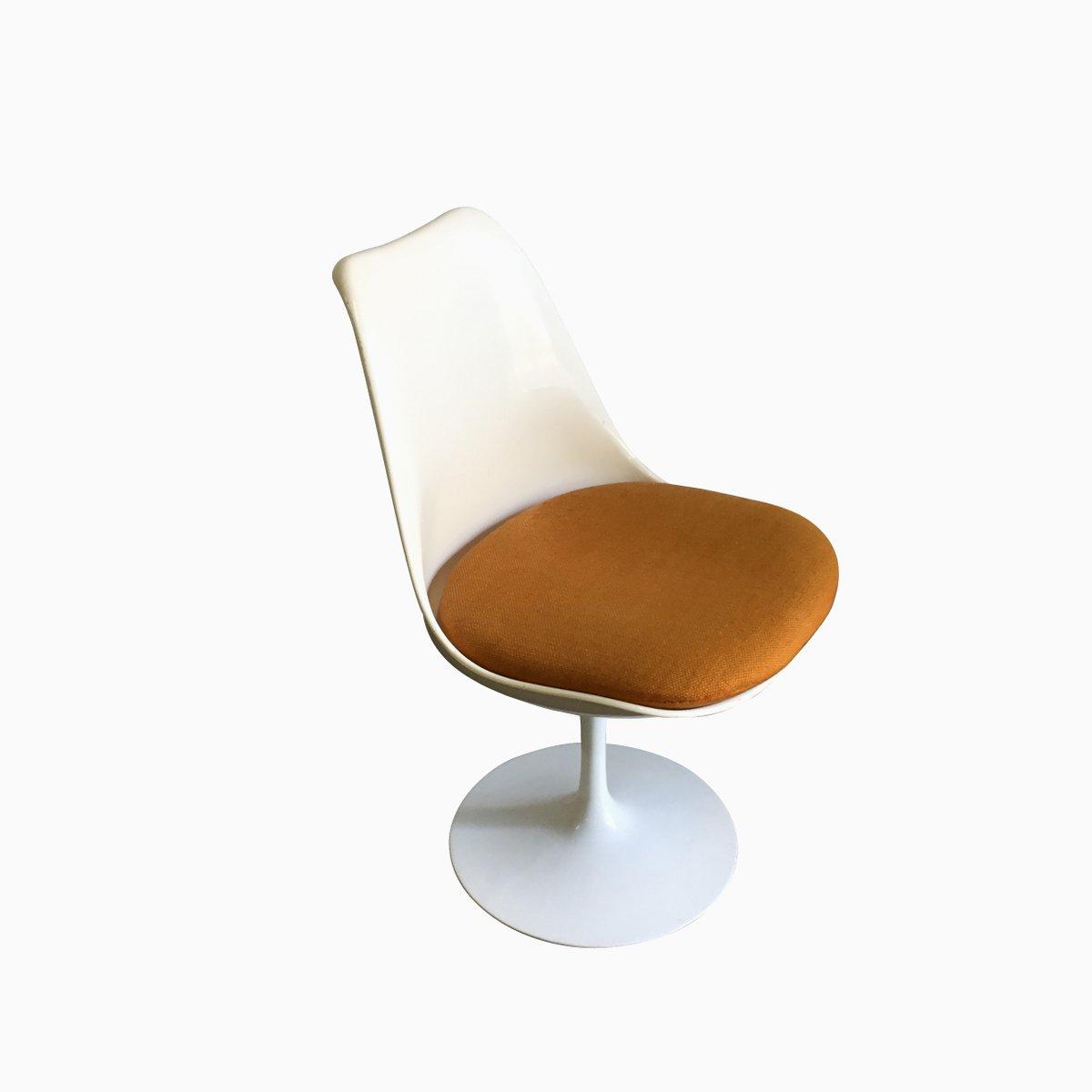 Original Tulip Chair Saarinen american fixed tulip chair in blue